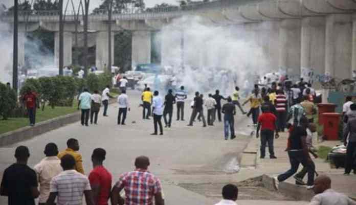 Breaking : Protest Rocks Lagos As NURTW, RTEAN Clash