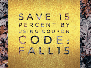 Coupon code fall15