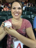Autographed Goldschmidt ball (came with the tickets)