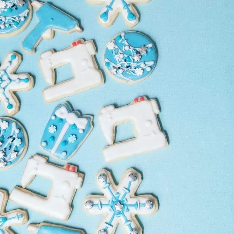 sewing machine sugar cookies