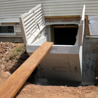 Goldens Bridge Unit Step Company » Basement Entrances | Bilco Precast Basement Stairs | Walkout Basement | Egress | Basement Entry | Precast Concrete Steps | Basement Entrance