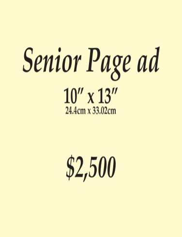 Senior Page Ad (Full Page)