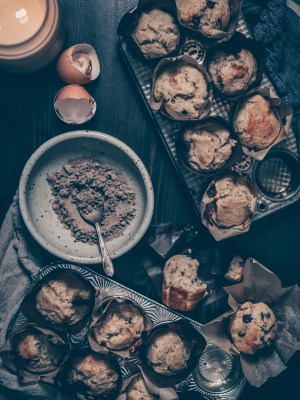 cardamom, muffins, banana, baking, chocolate, holiday, season, recipe, walnuts