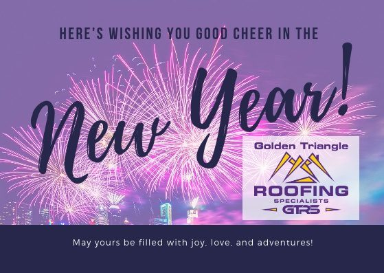 Violet Fireworks Photo New Year Card
