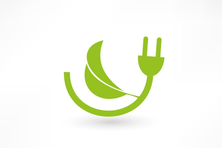 green electricity graphic