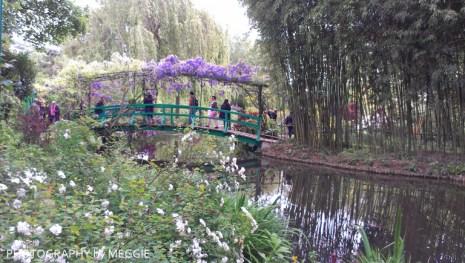 Monets trädgård - Bron baksida