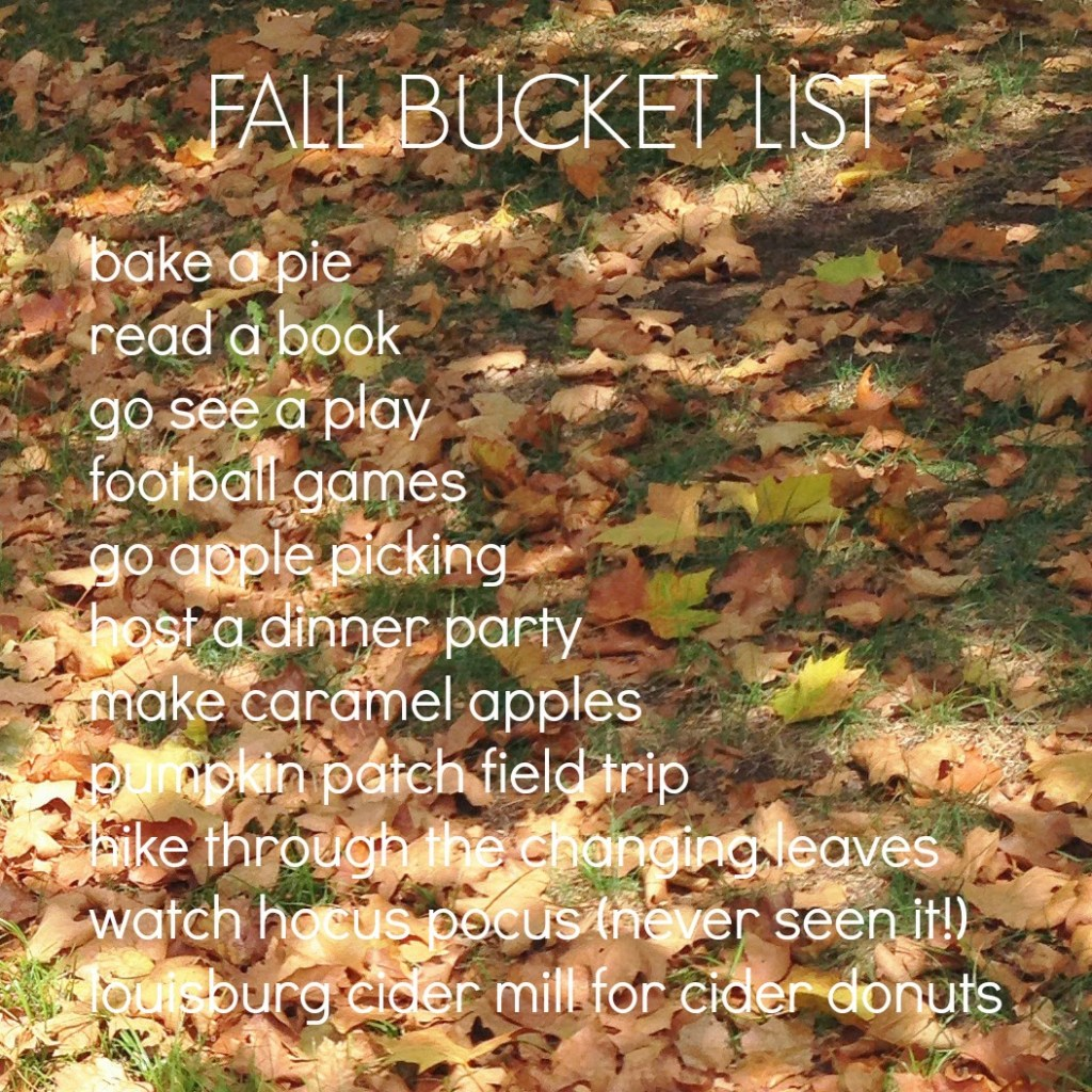 FALL BUCKET LIST.