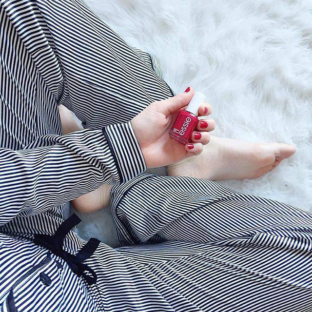 PJs + the Perfect Red Nail