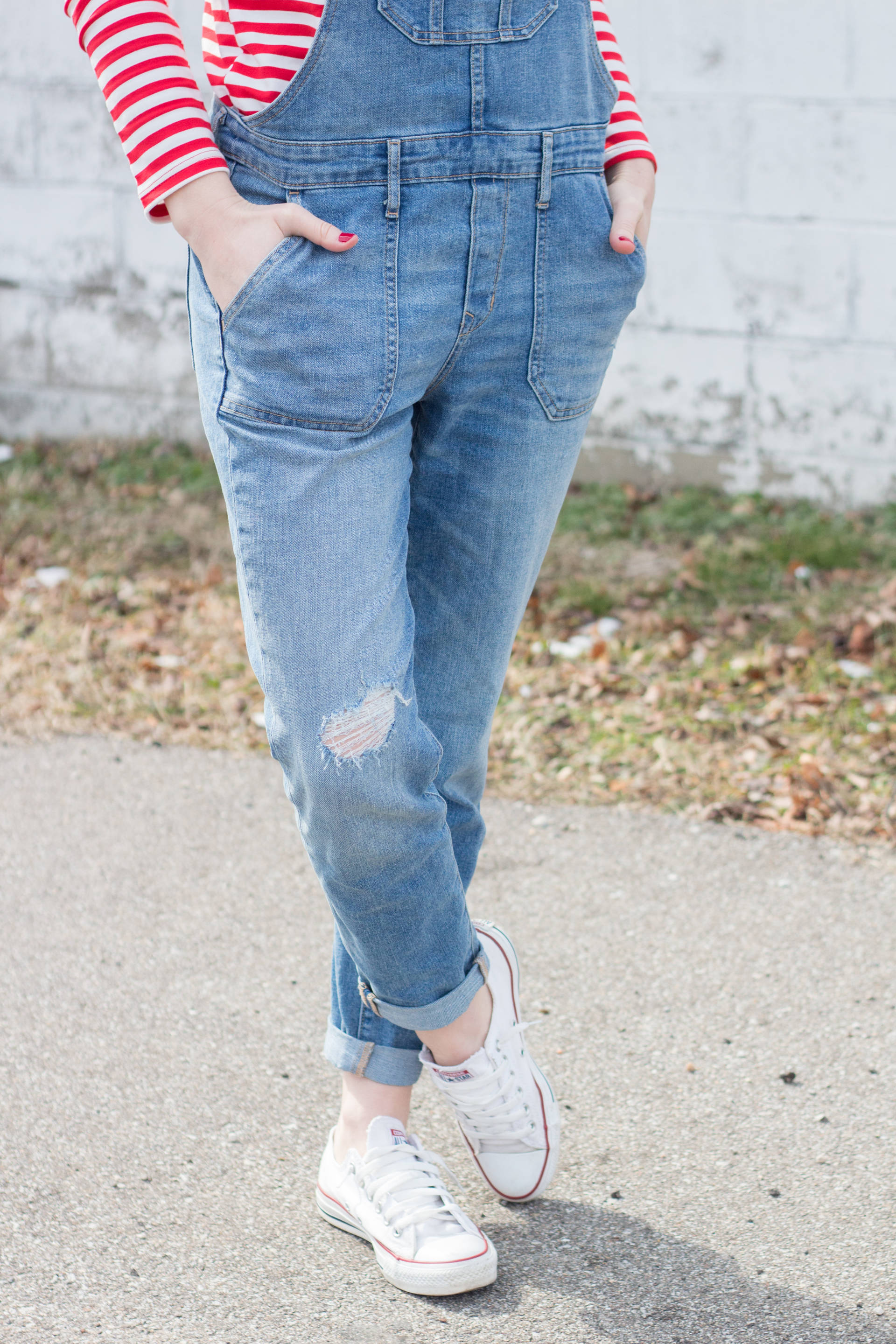 Overalls + Stripes | Gold-Hatted Lover