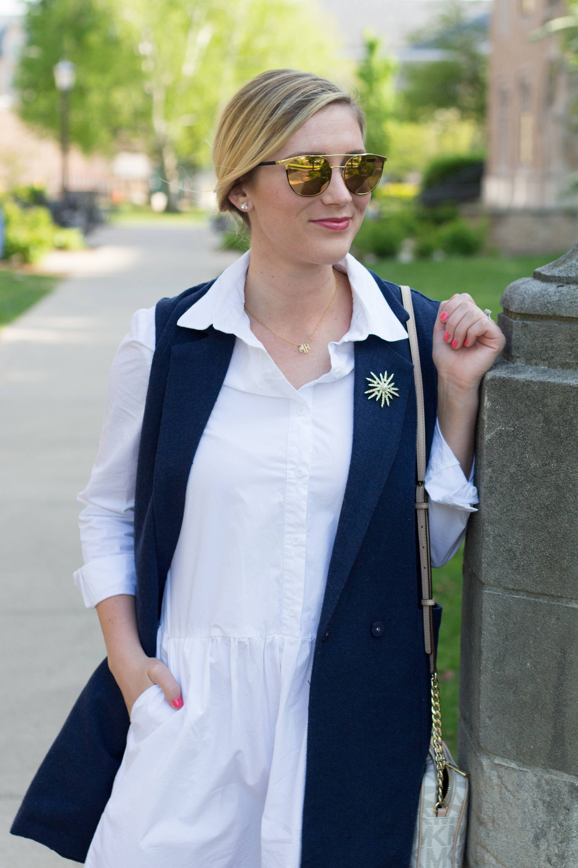 The Best $25 Little White Dress | Gold-Hatted Lover