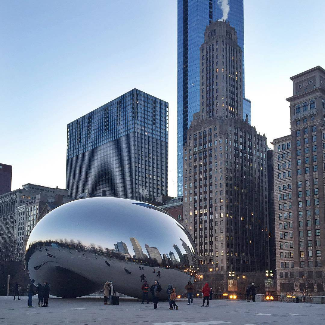 The Bean Chicago Sunrise No Tourists