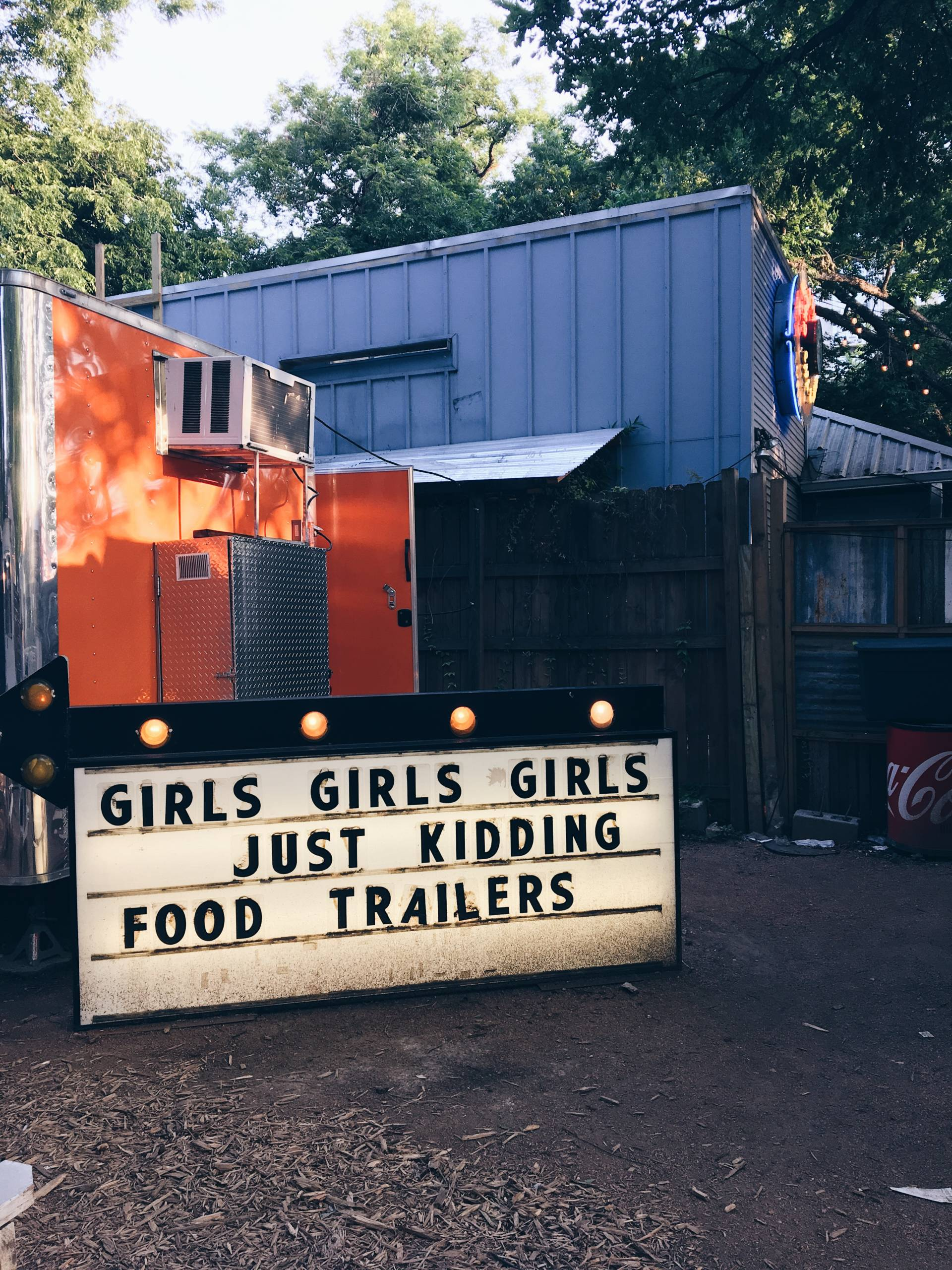 Austin Texas Food Truck Marquee Sign