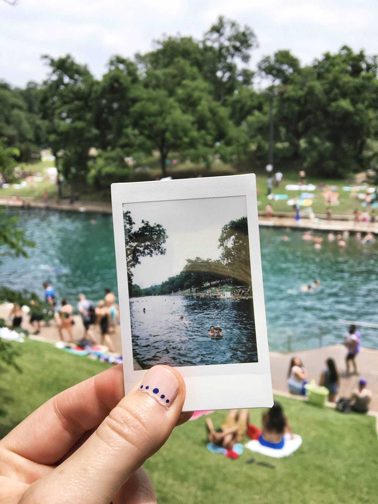 Memorial Day Weekend at Barton Springs Pool in Austin Texas