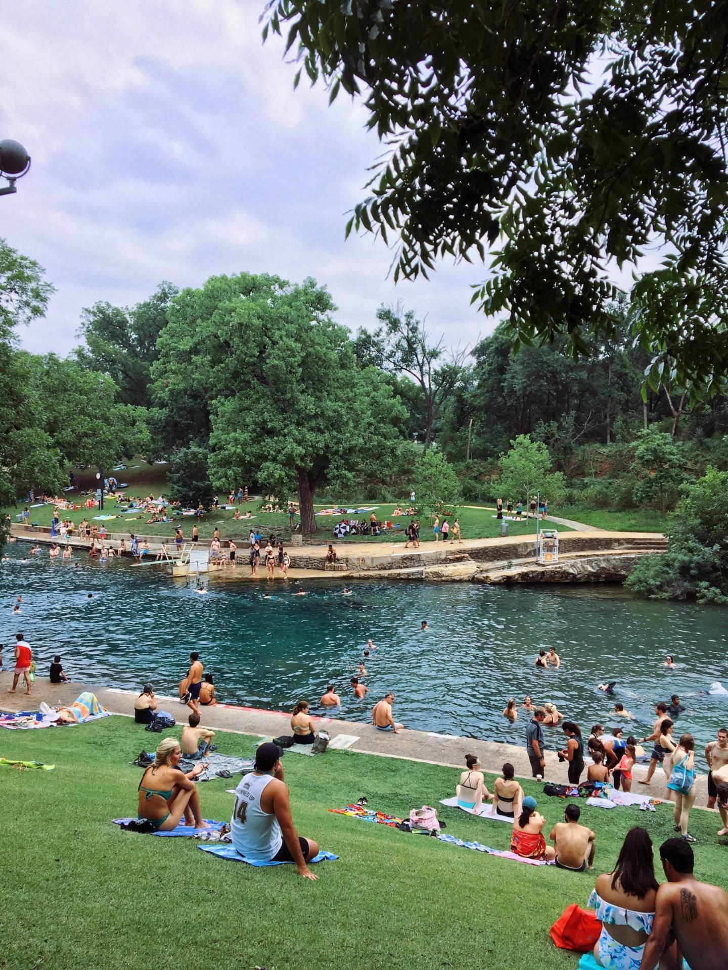 Barton Springs Pool in Austin Texas
