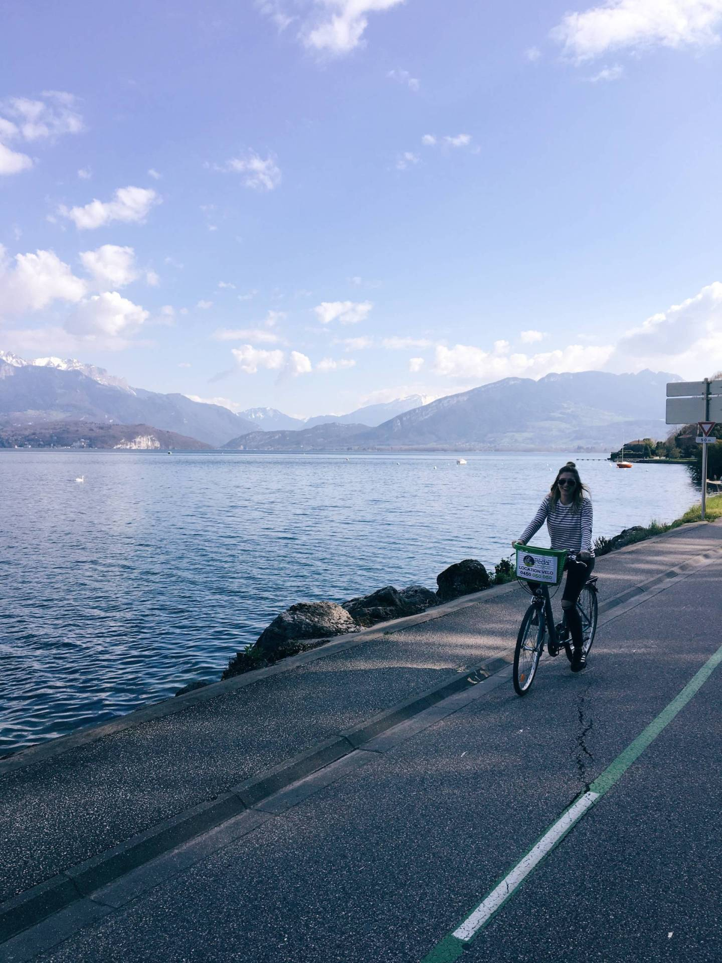 Riding Bikes around Lake Annecy