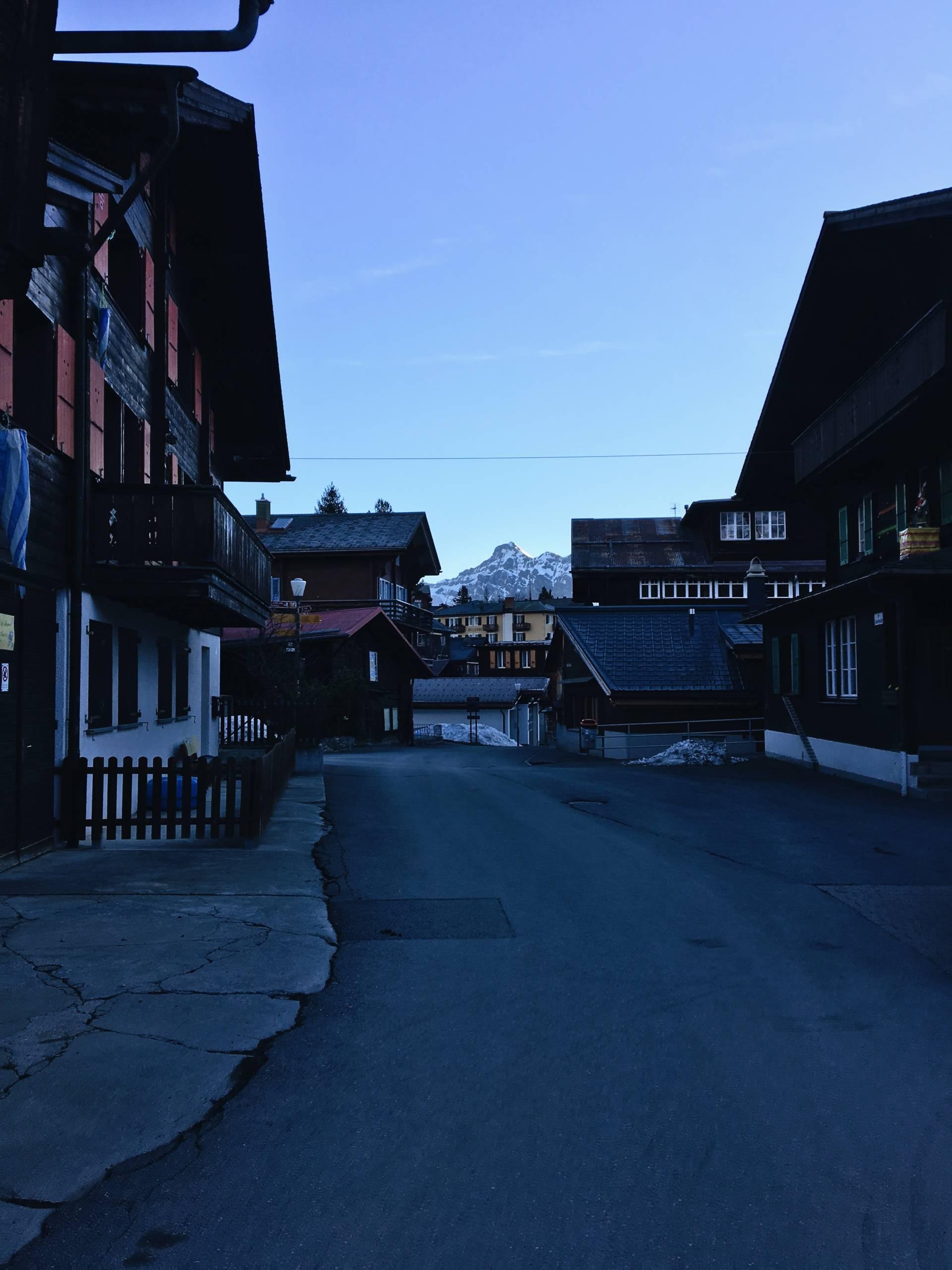 Sunrise in Murren Switzerland
