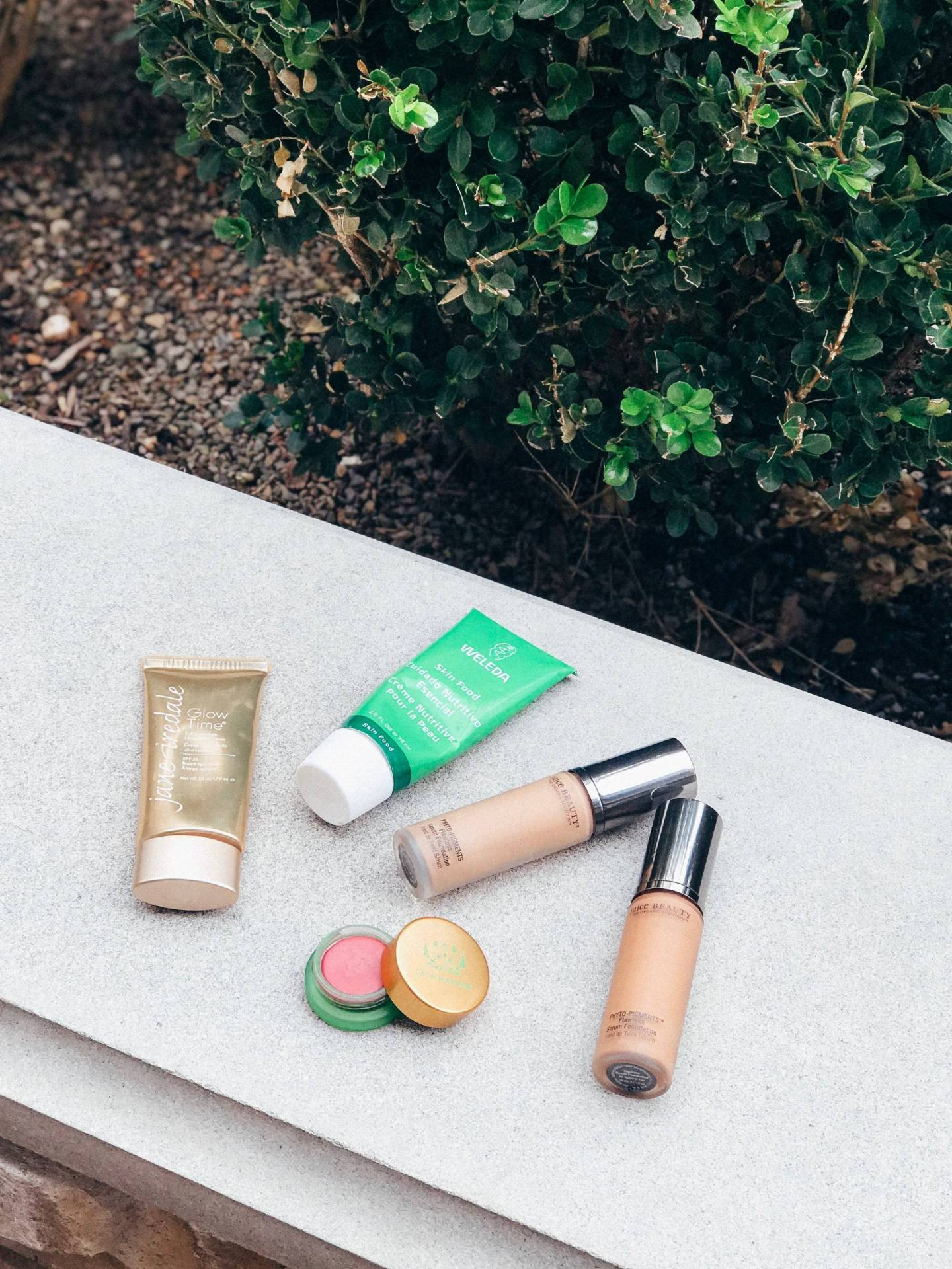 Clean Beauty Reviews vol I | Juice Beauty Phyto Pigments Flawless Serum Foundation, Tata Harper Volumizing Lip and Cheek Tint, Weleda Skin Food, and Jane Iredale Glow Time Full Coverage Mineral BB Cream with SPF 25