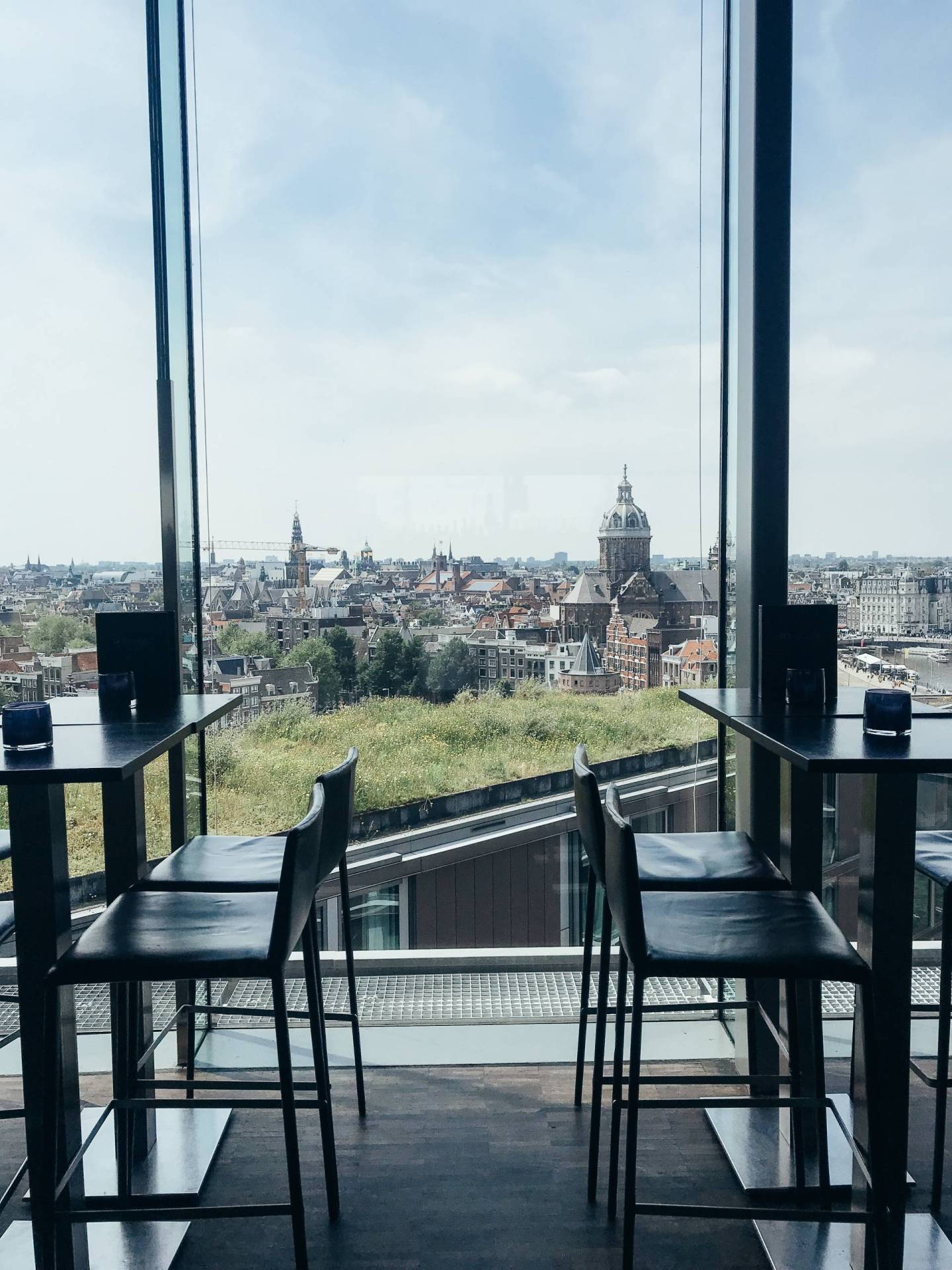 While the drinks may have been crazy overpriced, there's no denying that SkyLounge has one of the best aerial views over Amsterdam. However, click through for my pick of the place with the best view with very reasonable prices!