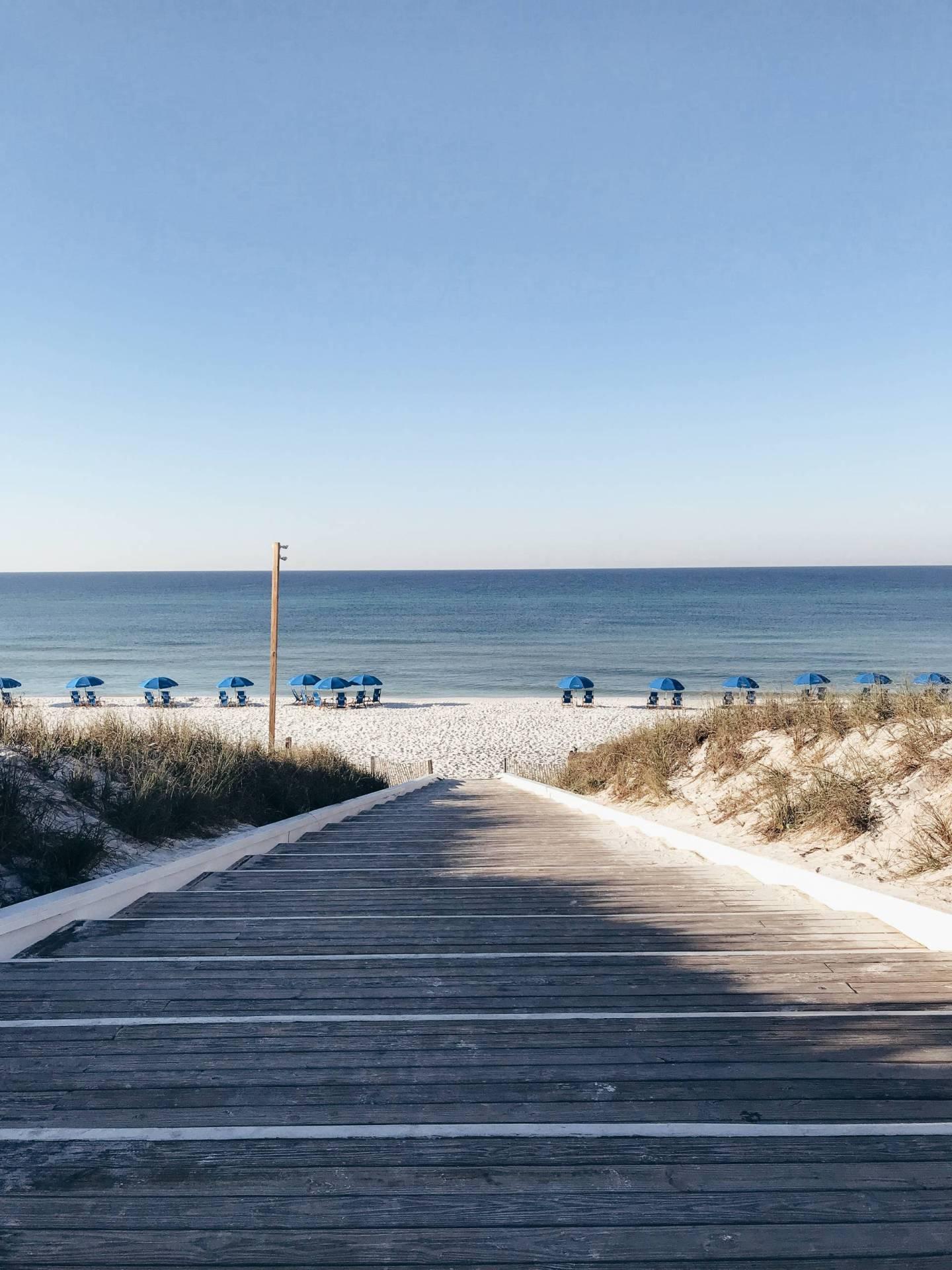 Walking Down to Seaside Beach 30A Florida
