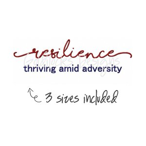 resilience thriving amid adversity mental health embroidery design