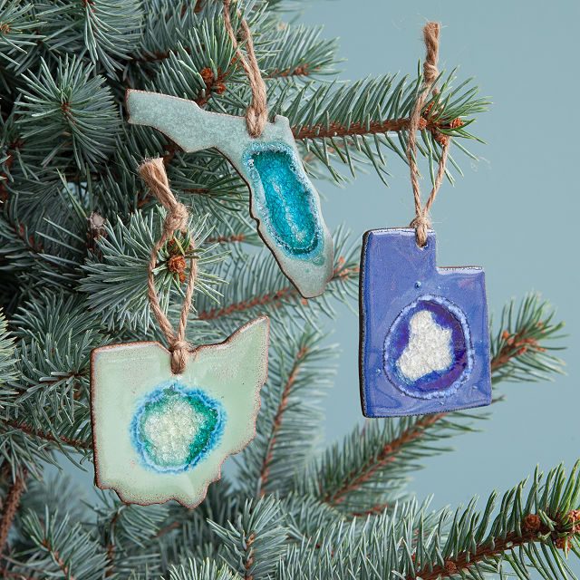 Geode State Ornaments