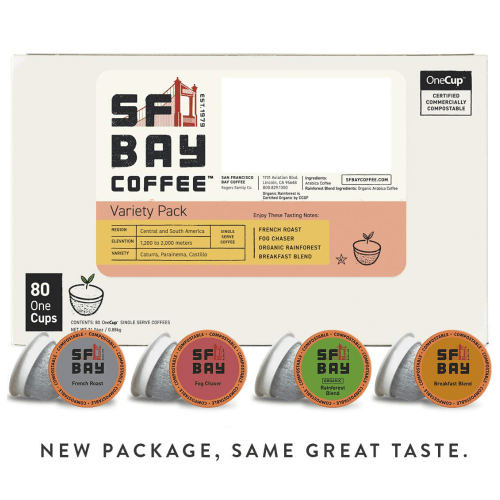 Sf Bay Coffee Variety Pack Compostable k-cups - Eco Friendly Gifts - Goldilocks Effect