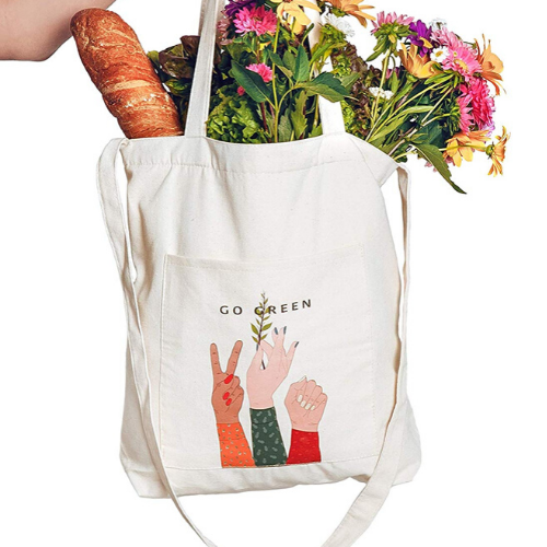 Go Green Shoulder Tote - Eco-Friendly Gifts | Low Waste Gift Ideas | Goldilocks Effect