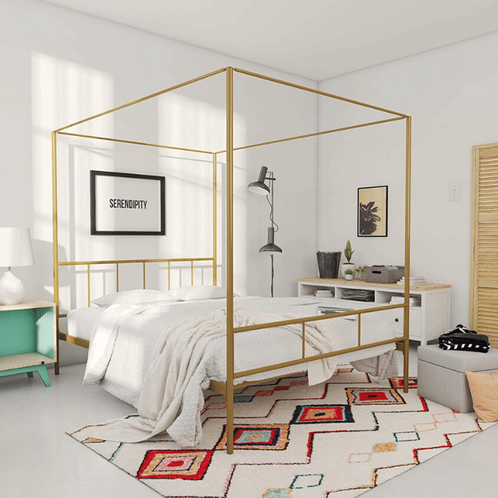 Marion Canopy Bed Frame - Boho Bedrooms