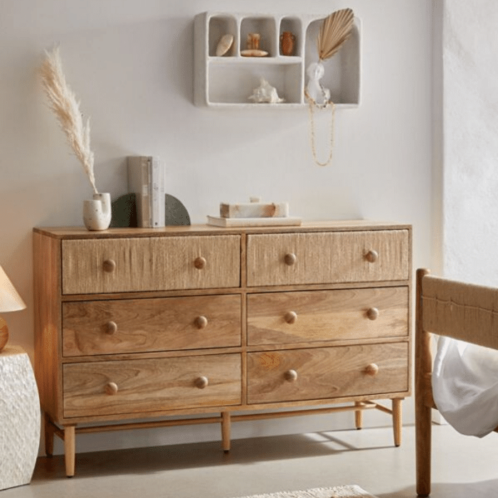 Olivia 6-Drawer Dresser - Boho Bedroom