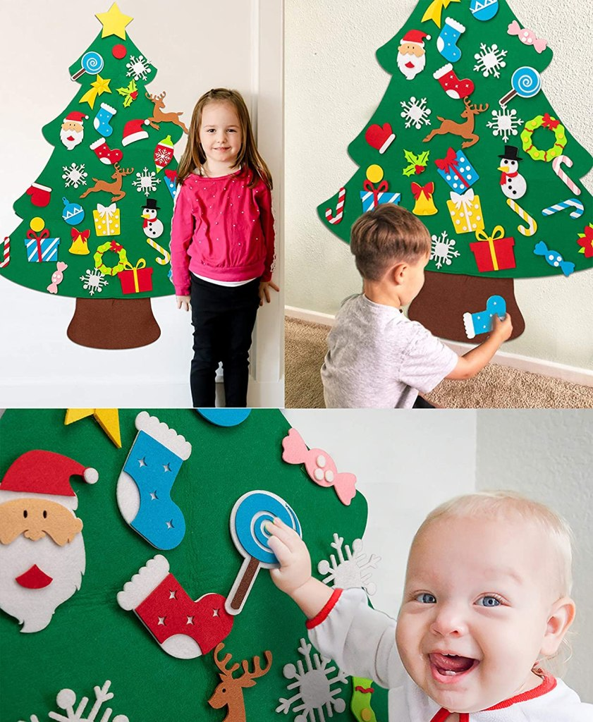 3ft DIY Felt Christmas Tree Set Plus Snowman Advent Calendar