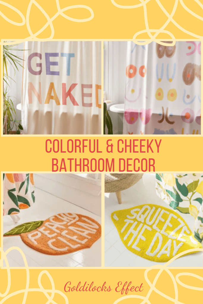 Colorful & Cheeky Bathroom Accessories