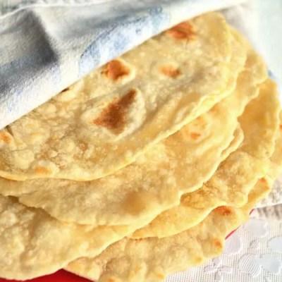 Easy Fresh Flour Tortillas