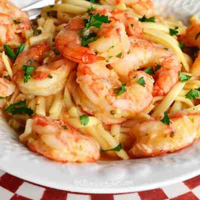Linguine with Shrimp, Garlic, and Lemon