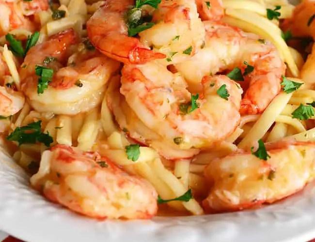 Linguine with Shrimp, Garlic, and Lemon
