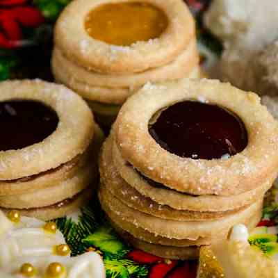 Jelly Center Butter Cookies