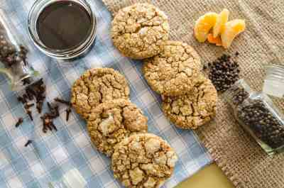Orange-spice Molasses Cookies top vew