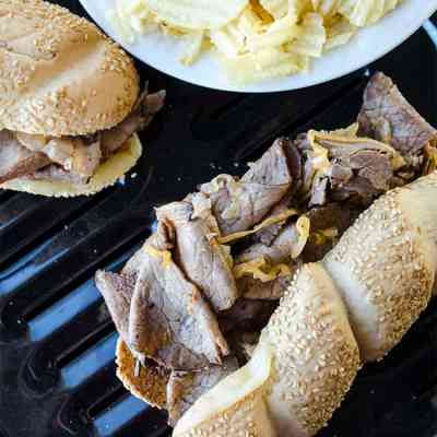 Quick Superbowl Cheesesteak subs