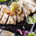 25 minute dinner: Grilled Rosemary Chicken with tossed salad