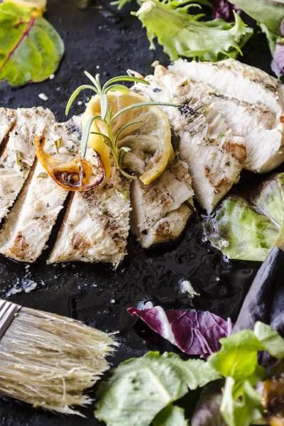 30 minute dinner: Grilled Rosemary Garlic Chicken salad