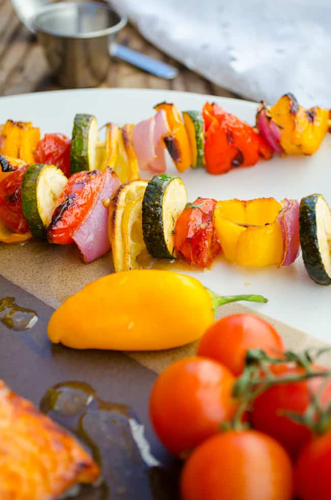 Glazed Veggie Skewers