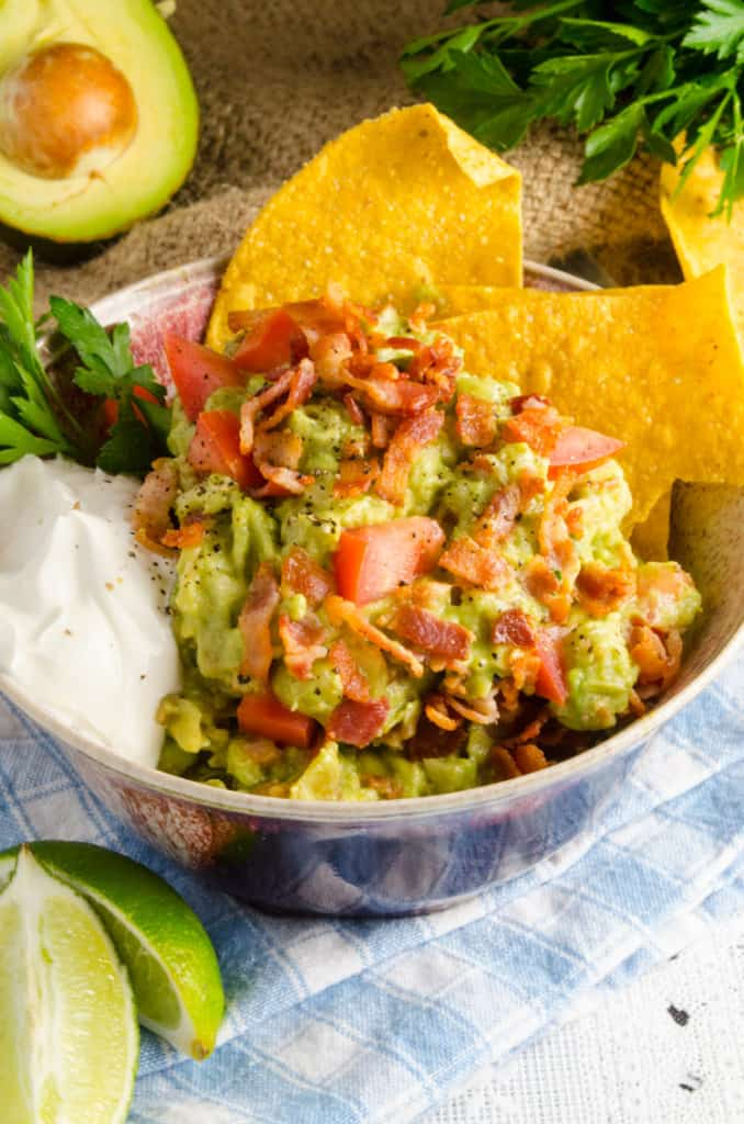 Bacon Green Chile Guacamole