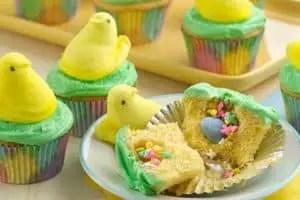 Peeps surprise cupcakes