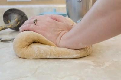 Kneading Farmhouse Wheat Bread