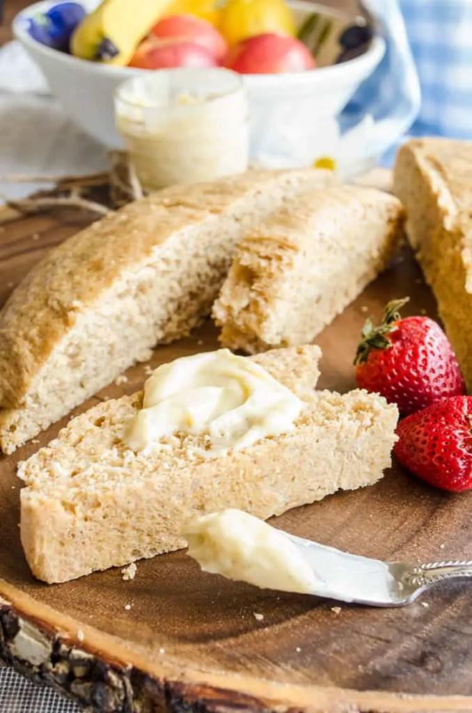 Farmhouse Wheat Bread with Cinnamon Honey Butter