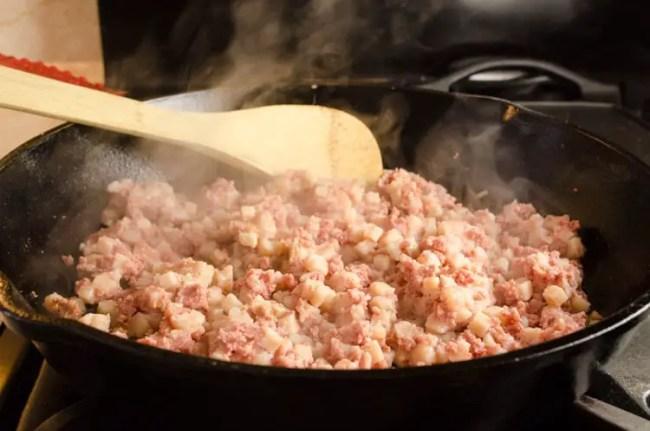 Corned Beef Hash Huevos Rancheros