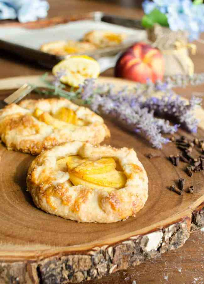 Simple Mini Peach Galettes
