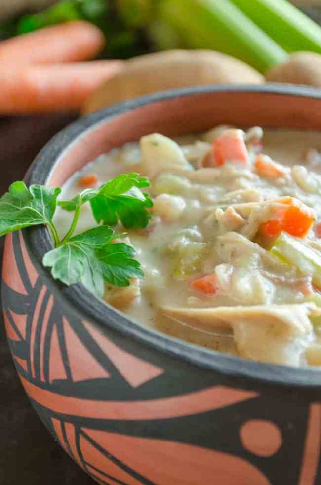 Creamy Leftover Turkey Stew- The Goldilocks Kitchen
