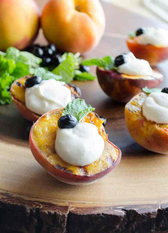 Grilled Ricotta Peaches