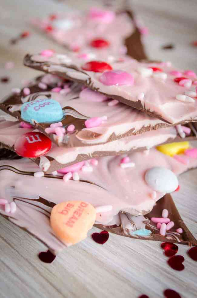 Sweet Tooth Valentine's Day Bark - The Goldilocks Kitchen