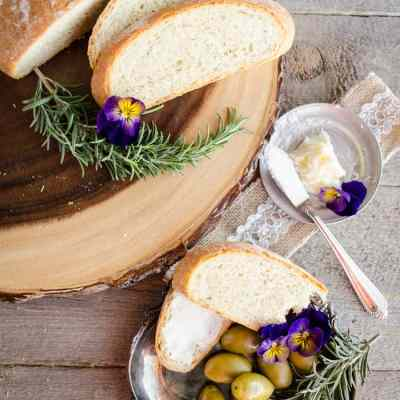 Rustic Rosemary Olive Bread